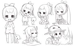Chibi sketch by Fuka-Enrique.deviantart.com on @DeviantArt