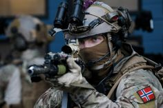 Norwegian MJK operator during Cold Response 2014.