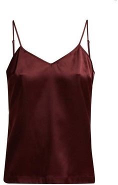 764d18ee12855f La Perla Silk Reward V Neck Silk Blend Cami Top - Womens - Burgundy  Reward