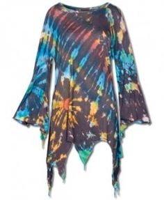 Tie dye hippie shirt. Great they will go well with the bell bottoms