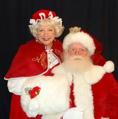 Santa Claus and Mrs Claus Merry Christmas Santa, Father Christmas, Family Christmas, Ugly Christmas Sweater, Christmas Holidays, Christmas Ideas, Xmas, Mrs Clause Costume, Mrs Claus Outfit
