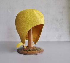 vintage Jantzen sunny yellow swim cap