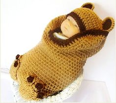 kids hats to crochet | Gifts for newborn: Crochet hat and sleepy bag, kids craft ideas ...