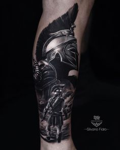 Search inspiration for a Realistic tattoo. Warrior Tattoo Sleeve, Armor Tattoo, Warrior Tattoos, Norse Tattoo, Best Sleeve Tattoos, Tattoo Sleeve Designs, Tattoo Designs Men, Realistic Tattoo Sleeve, Cool Forearm Tattoos