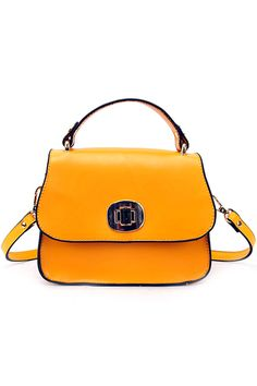 Chic Style Yellow Shoulder Bag