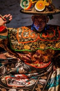 Black Hat dancer, Bumthang. Photo tour of Bhutan with Adam Monk