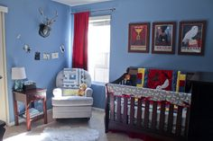 Finished product of our guy's Harry Potter Nursery <3 #HarryPotter #HarryPotterNursery #BoyNursery #Nursery