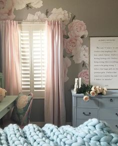 Peony Wall Decals - so sweet!