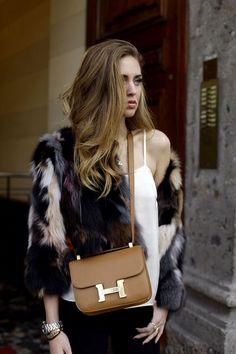 a393a3c357c6 Costance   The Blonde Salad Hermes Constance Bag, Chiara Ferragni, Faux Fur  Jacket,