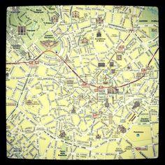 Tourist map milano