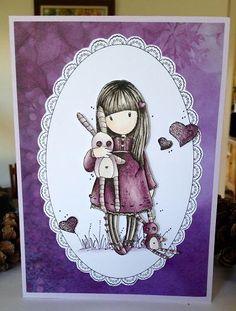 GORJUSS Girl stamp coloured with Derwent Inktense                                                                                                                                                                                 Más