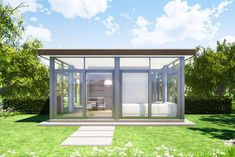 Modern Tiny House Plan Designed for a View; Cabin House Plans, Family House Plans, Bedroom House Plans, Tiny House Plans, Off Grid Tiny House, Modern Tiny House, Modern Glass House, Tiny Mobile House, Unique House Plans
