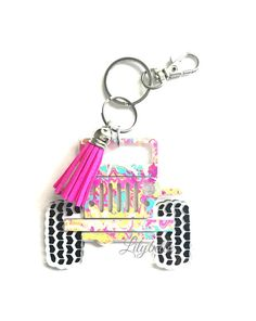 Collectibles Bright Chrysler Acrylic Badged Black Leather Key Ring Key Fob Key Chain