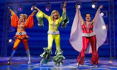 The long-running Broadway production of Benny Andersson and Björn Ulvaeus' international hit musical Mamma Mia!, which currently plays the Broadhurst Theatre, will close September producers announced April Broadway Plays, Broadway Theatre, Musical Theatre, Broadway Shows, Broadway Nyc, Mamma Mia, Winter Garden Theatre, Broadway Costumes, Abba Costumes