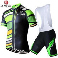 X-Tiger Breathable Cycling Jersey Set Racing Bicycle Cycling Clothing Maillot Ciclismo Sportwear MTB Bike Clothes Cycling Set