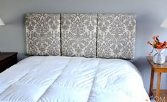 i want to make my own headboard, different fabric, of course.