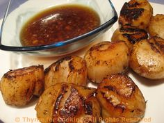 Grilled Scallops with Lemon Ginger Sauce
