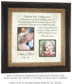 Personalized Wedding Frame Parents of the Bride Parents of the ...