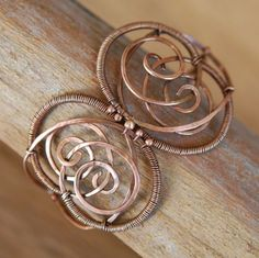 Artisan Copper Bracelet  Butterfly Wire Wrapped by NeroliHandmade, $45.00