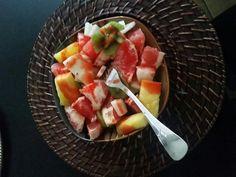 Rica fruta con chamoy Blchch