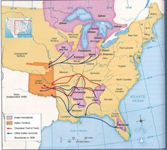 Trail Of Tears Map | History with Rivera: 1.15.13 Trail of Tears