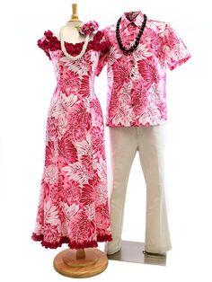 Aloha Outlet Exclusive! Men's Hawaiian Shirt Matching Hawaiian Outfits [Gradation Monstera / Pink]
