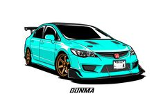 Fiverr freelancer will provide Vector Tracing services and draw your car into vector drawing including # of images within 3 days Honda Civic Vtec, Honda Civic Type R, Acura Rsx Type S, Civic Ef, Cool Car Drawings, Car Vector, Honda Cars, Car Illustration, Automotive Art