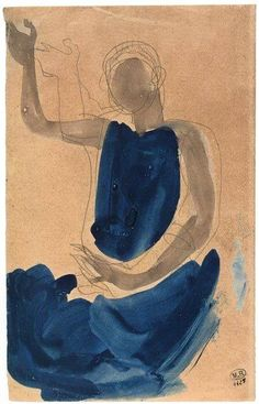 'Cambodian Dancer' by French sculptor & artist Auguste Rodin Graphite pencil & gouache. Auguste Rodin, Musée Rodin, Rodin Drawing, Painting & Drawing, Drawing Tips, Art And Illustration, Rodin Museum, Inspiration Art, Art Design
