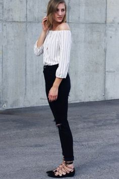 Lace-Up Flats by Billy Ella | Pinned by topista.com  And that shirt