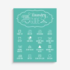 With an effortless modern style, Lucy Darling offers a high-quality Laundry Guide art print to celebrate life's darling moments. • Perfect Home and Wall Decor