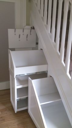 Best ideas for wall collage ideas stairs spaces Under Stairs Drawers, Under Stairs Cupboard, Staircase Storage, Stair Storage, Built In Furniture, Basement House, Wall Collage, Collage Ideas, Cool Walls