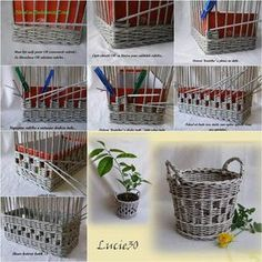 How to Weave a Unique DIY Storage Basket from Old Newspaper | iCreativeIdeas.com Like Us on Facebook ==> https://www.facebook.com/icreativeideas VZOR