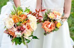 Orange White Bouquet wedding
