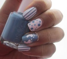 Baby shower nails. I wanna have mani's done for the girls coming!