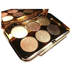 SODIAL(R)women diamond bright colorful makeup eye shadow super make up set flash Glitter eyeshadow palette with brush 4 #EyeMakeup