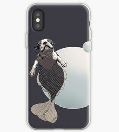 'Blithe the Boston Terrier Merpup' iPhone Case by LittleMissTyne Framed Prints, Canvas Prints, Art Prints, Mermaid Gifts, Art Boards, Boston Terrier, Duvet Covers, Iphone Cases, Lovers