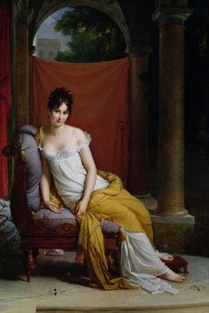 Jacques-Louis David'  1800  Portrait de Madame Récamier