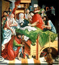 Flügelaltar-Sonntagsseite ; Meister von Mariapfarr ; Salzburg 1495 bis 1505