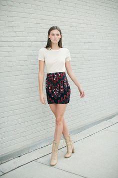 Mara Hoffman - Bolnisi Rug Knit Skirt   BONA DRAG