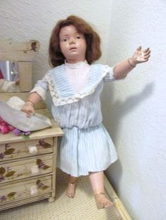 Antique Wooden Schoenhut Girl Doll with No Repaint  Found UNDER THE LILACS on Ruby Lane   http://www.rubylane.com/shop/underthelilacs