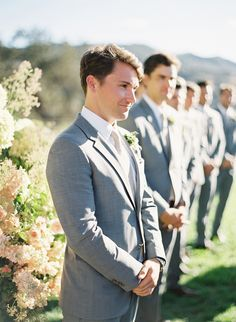 Great photograph of the groom/groomsman. Wedding date must-have photo: the groom's reaction when he sees the bride.