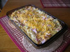Cabbage, Ham and Spaghetti Casserole - Copy