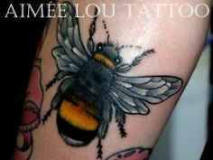 bumblebee tattoo - I LOVE this... miniturize it and this is what I would have had 5 years ago...