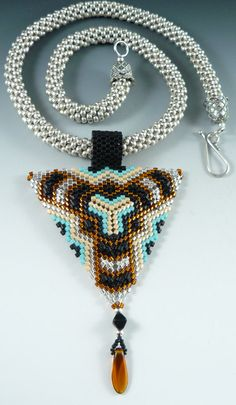 Triangle Necklace - Beaded Swan Jewelry
