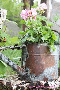 weathered garden accent