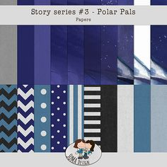 Story Series - Polar Pals Kit The Polar Pals is the third part of our Story series. Company Logo, Scrapbook, Kit, Shop, Design, Scrapbooking, Store, Guest Books