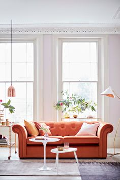 Burnt Orange Coloured Sofa. Will This Be The A/W 2017 Trend? Spotted