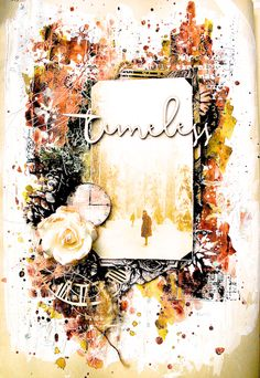 Hello 13arts  friends! Lisa here to share with you an art journal page   that I created using  13arts  vintage brass clocks and some chipbo...