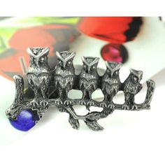 Emi Jewellery Brushed Silver Owl Knuckle Duster Ring (£9.35) ❤ liked on Polyvore featuring jewelry, rings, grey, silver jewelry, owl jewelry, silver jewellery, silver rings and owl ring