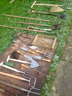 Tools laid out for our Symposium, Wednesday 4th February 2015.